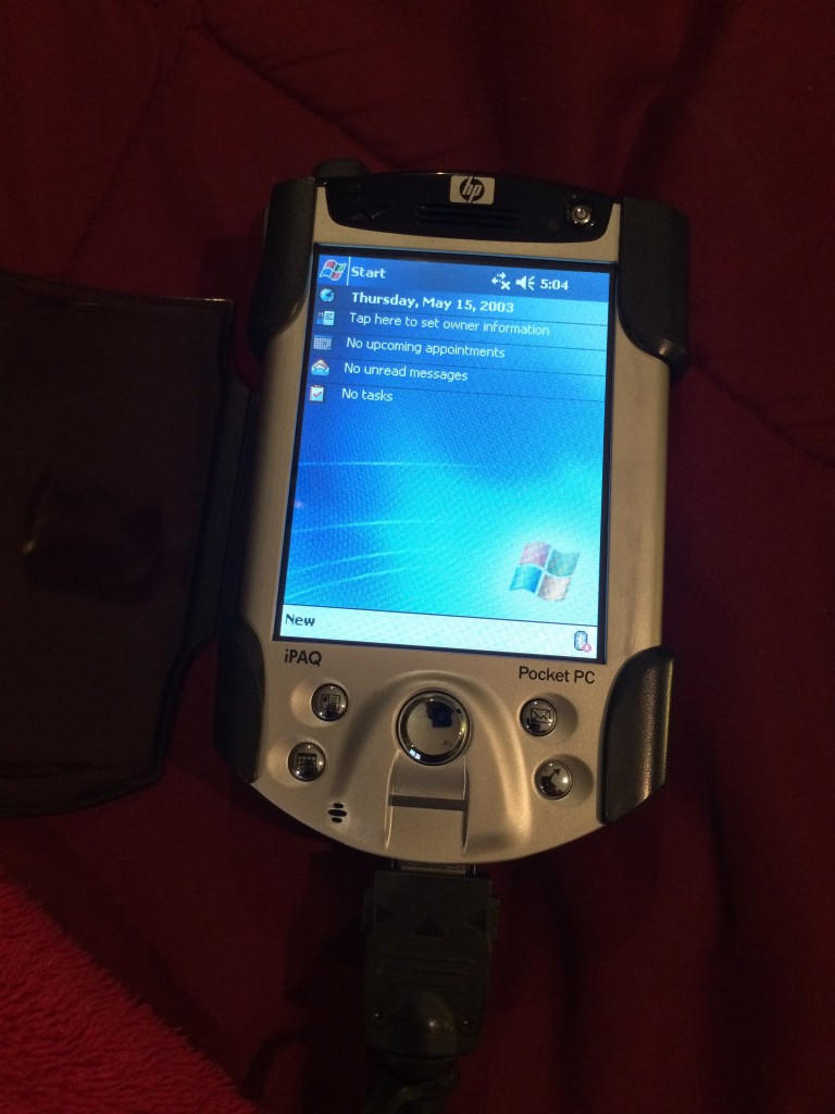 For nostalgia's sake I briefly owned one of these in 2013. HP iPaq PocketPC.